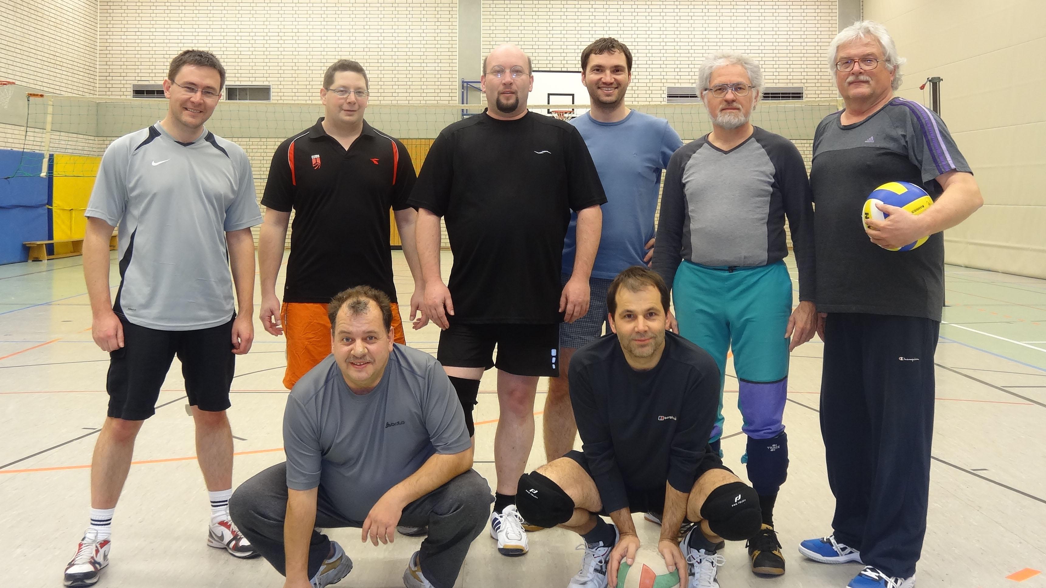 Volleyballergruppenbild